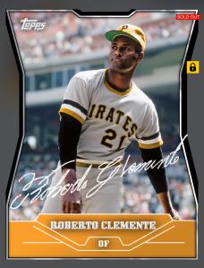 Roberto Clemente Die-Cut Signature